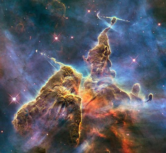 Dust, like stars.
