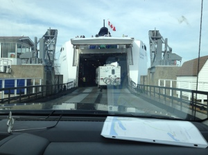 Then it's into the belly of the (ferry) beast