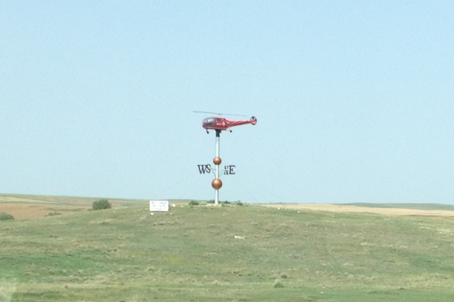 A weather vane somewhere west of Moose Jaw