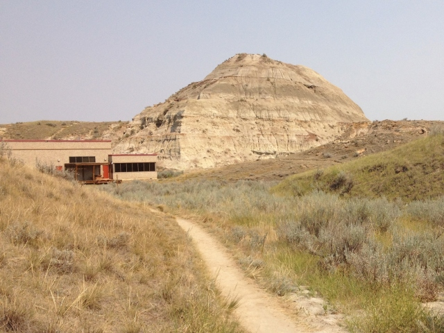 The path to the park center – a dinosaur pyramid or erosion?