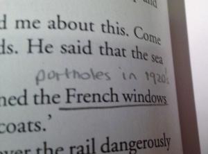 Portholes rather than French windows?