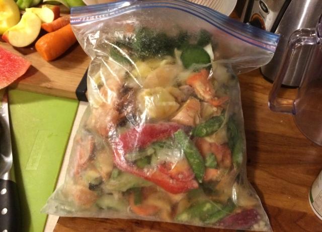 Large-size freezer bag