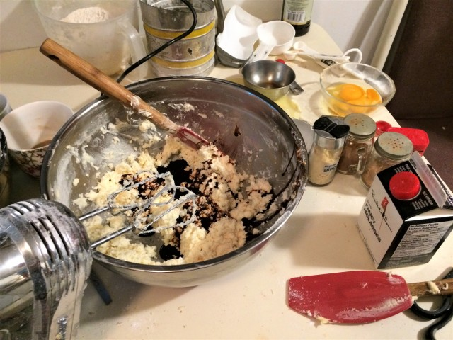 Baking's a mess, that's for sure … but t'was much more in the bowl than dripped on the floor