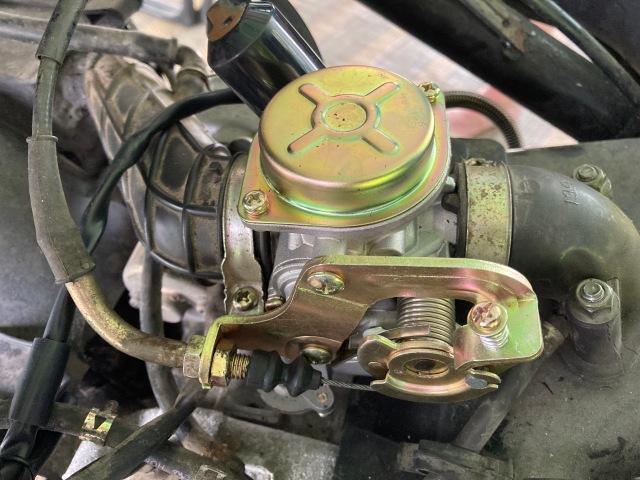 New carburettor installed