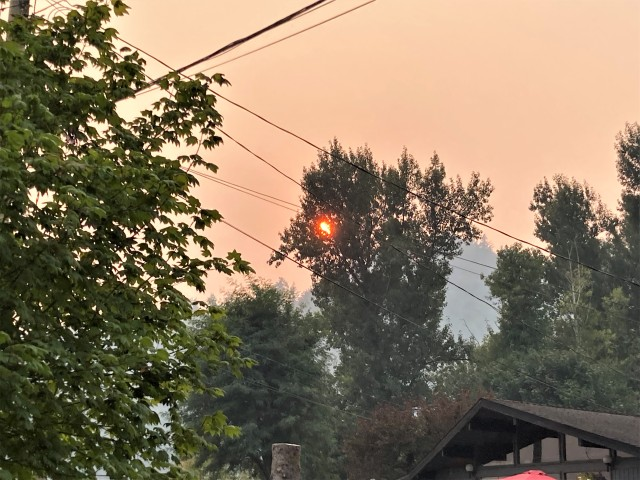 Sunsets and smoke - not the first, and, most unfortunately, not the last